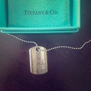 Jewelry - Tiffany's Sterling Silver Tag Necklace